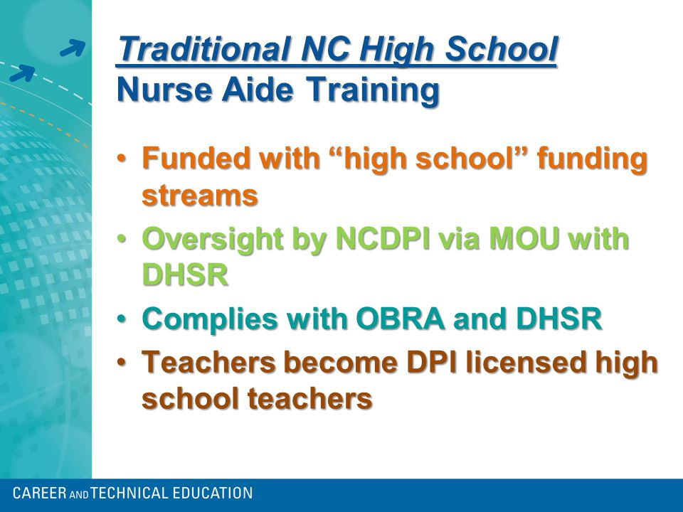 NAI training options for high school students NOW