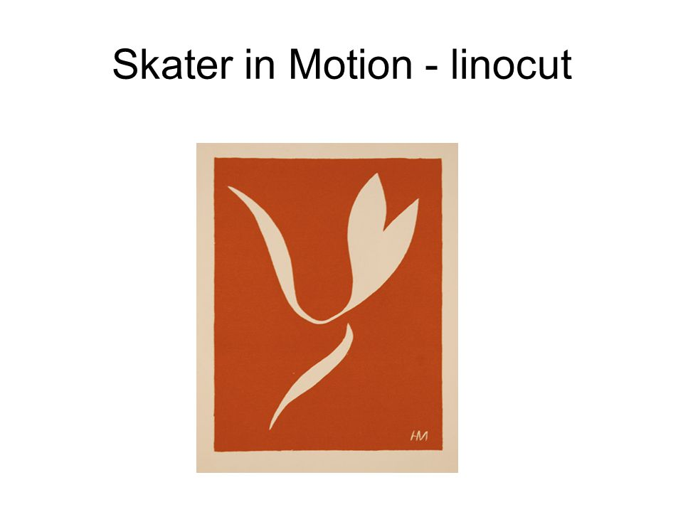 Skater in Motion - linocut