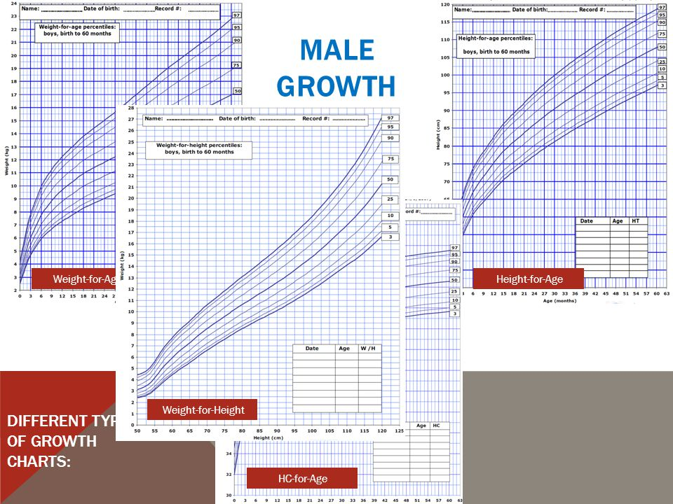 FEMALEGROWTHCHARTS DIFFERENT TYPES OF GROWTH CHARTS: Weight-for-AgeHeight-for-Age HC-for-Age Weight-for-Height