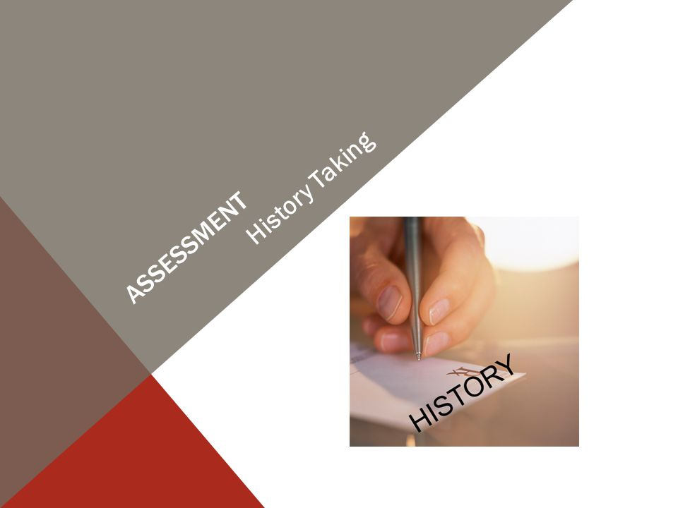 ASSESSMENT History Taking