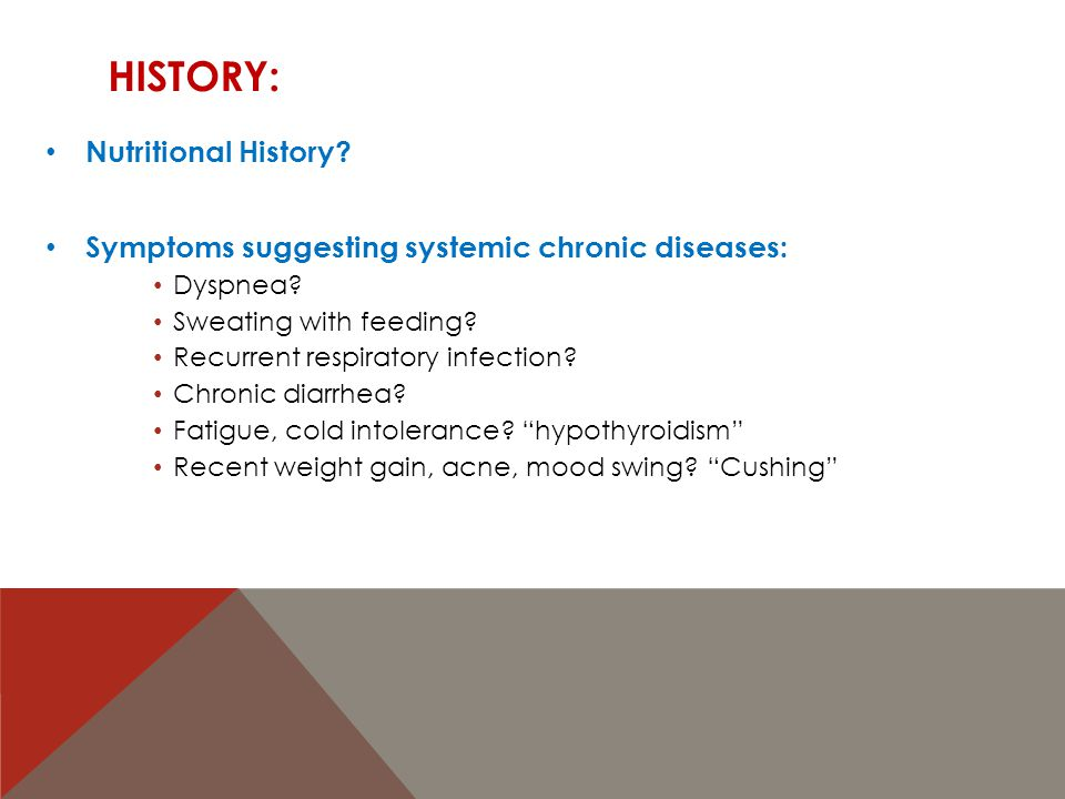 HISTORY: Syndromes.Down syndrome, Turner syndrome?...
