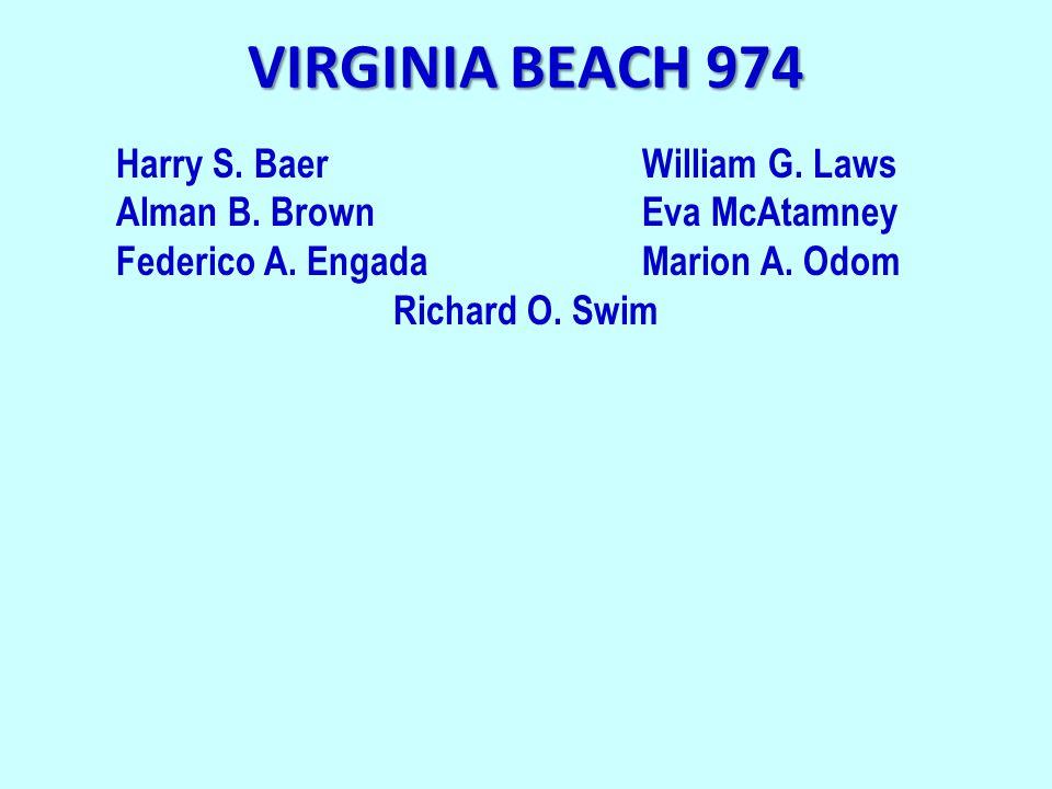 VIRGINIA BEACH 974 Harry S. BaerWilliam G. Laws Alman B.