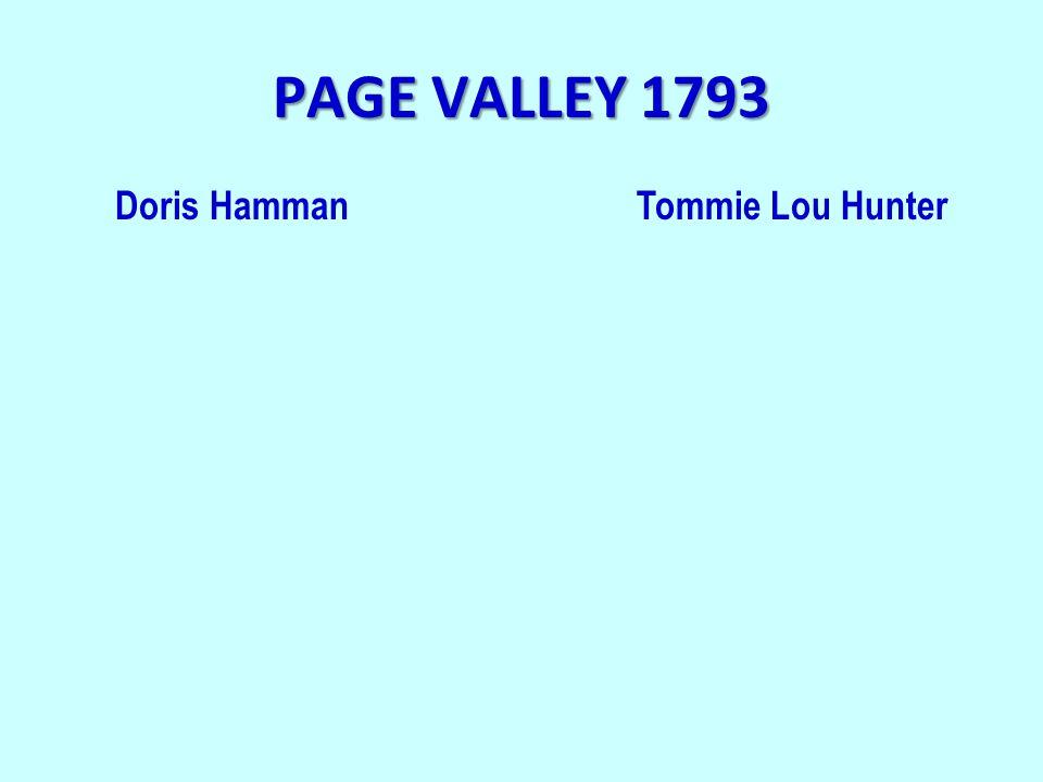 PAGE VALLEY 1793 Doris HammanTommie Lou Hunter