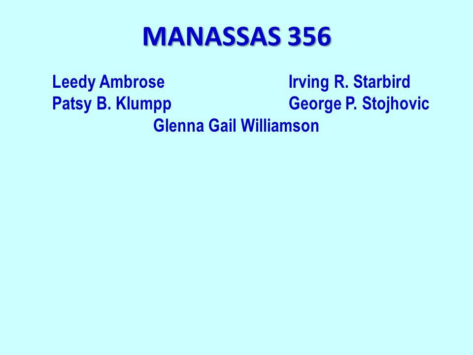 MANASSAS 356 Leedy AmbroseIrving R. Starbird Patsy B.