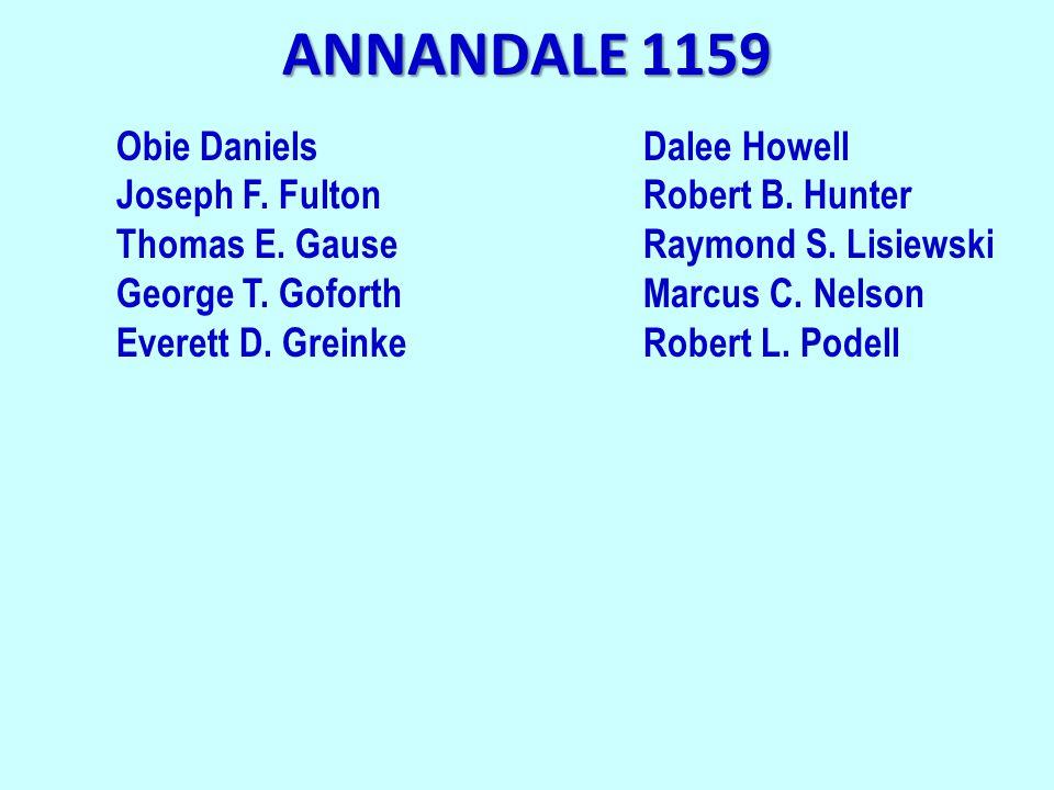 ANNANDALE 1159 Obie DanielsDalee Howell Joseph F. FultonRobert B.
