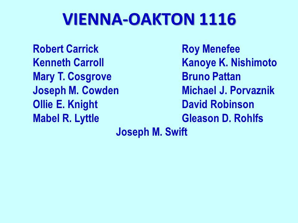 VIENNA-OAKTON 1116 Robert CarrickRoy Menefee Kenneth CarrollKanoye K.