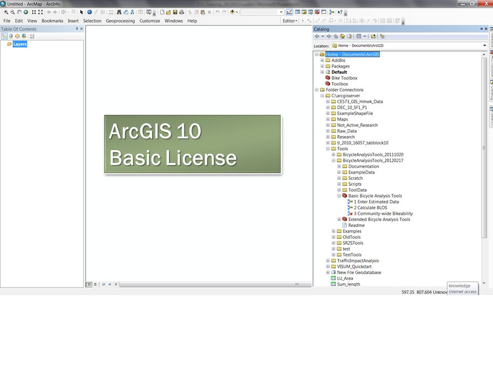 ArcGIS 10 Basic License ArcGIS 10 Basic License