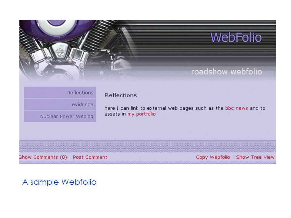 A sample Webfolio