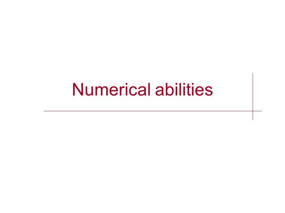 Numerical abilities