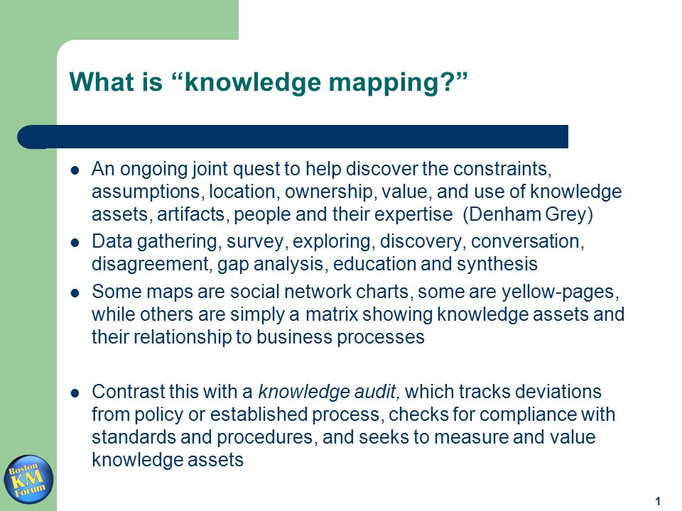 2 Why map knowledge.