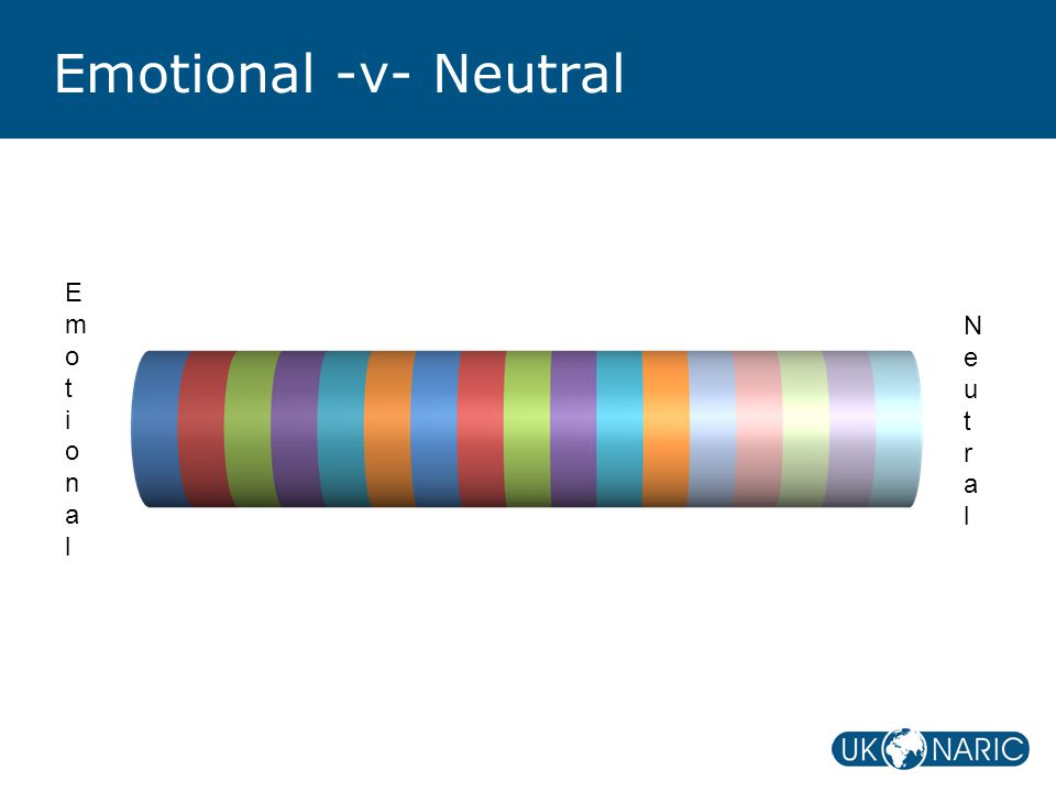 Emotional -v- Neutral EmotionalEmotional NeutralNeutral