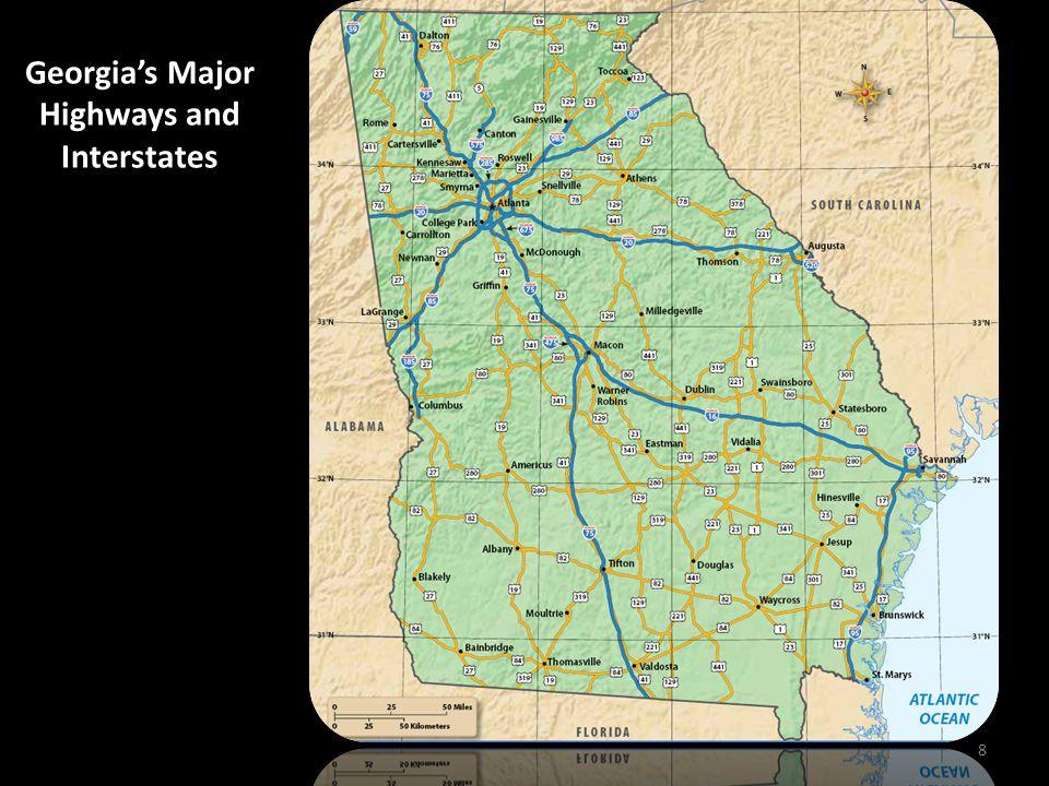 Georgia's Major Highways and Interstates 8