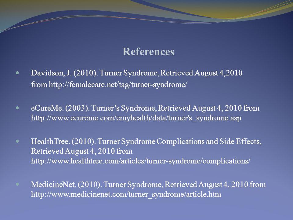 References Davidson, J. (2010).