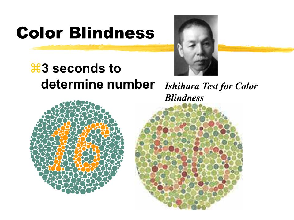 Color Blindness z3 seconds to determine number Ishihara Test for Color Blindness