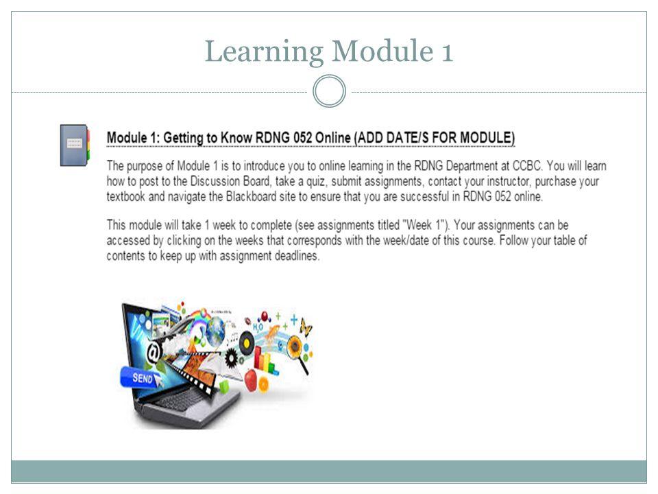 Learning Module 1