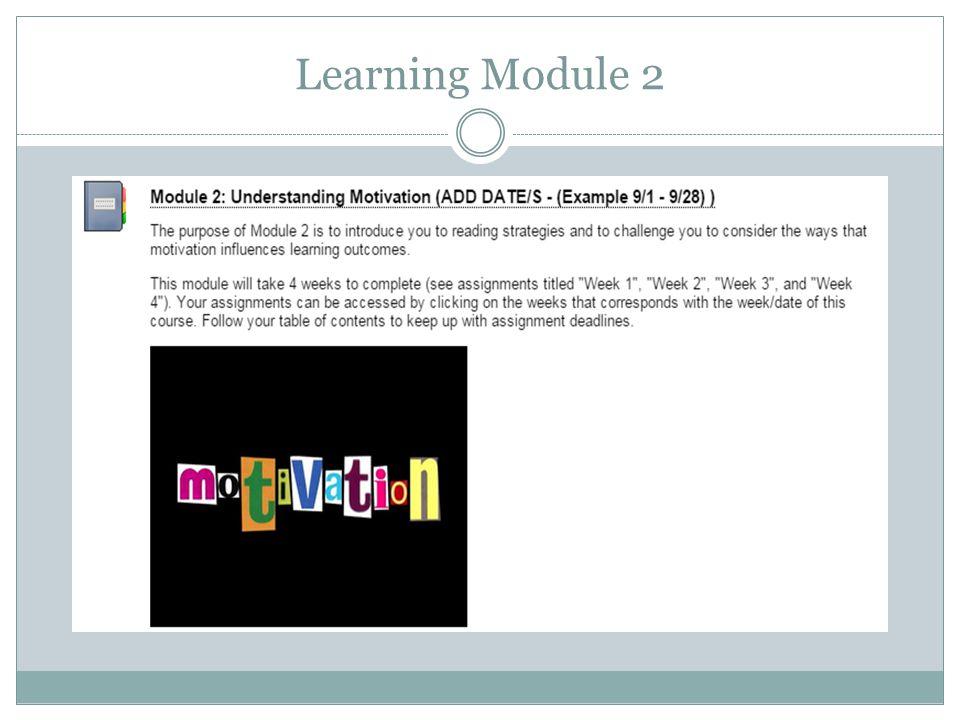 Learning Module 2