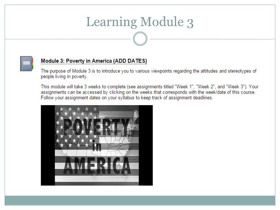 Learning Module 3