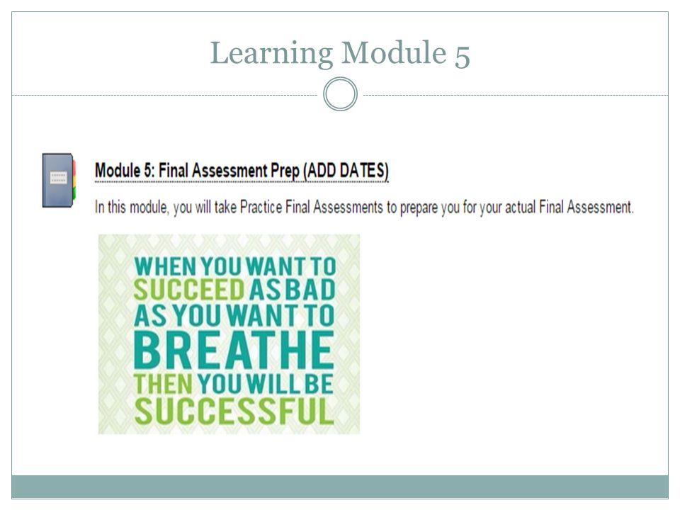 Learning Module 5