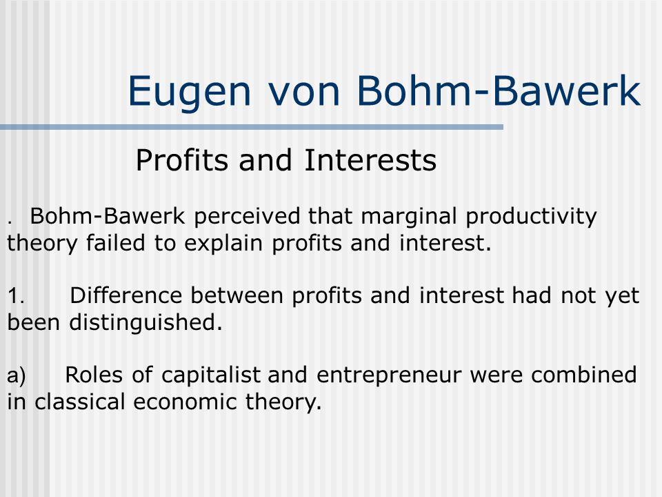 Eugen von Bohm-Bawerk Profits and Interests.