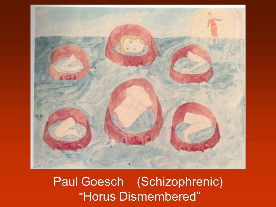 """Paul Goesch (Schizophrenic) """"Horus Dismembered"""""""
