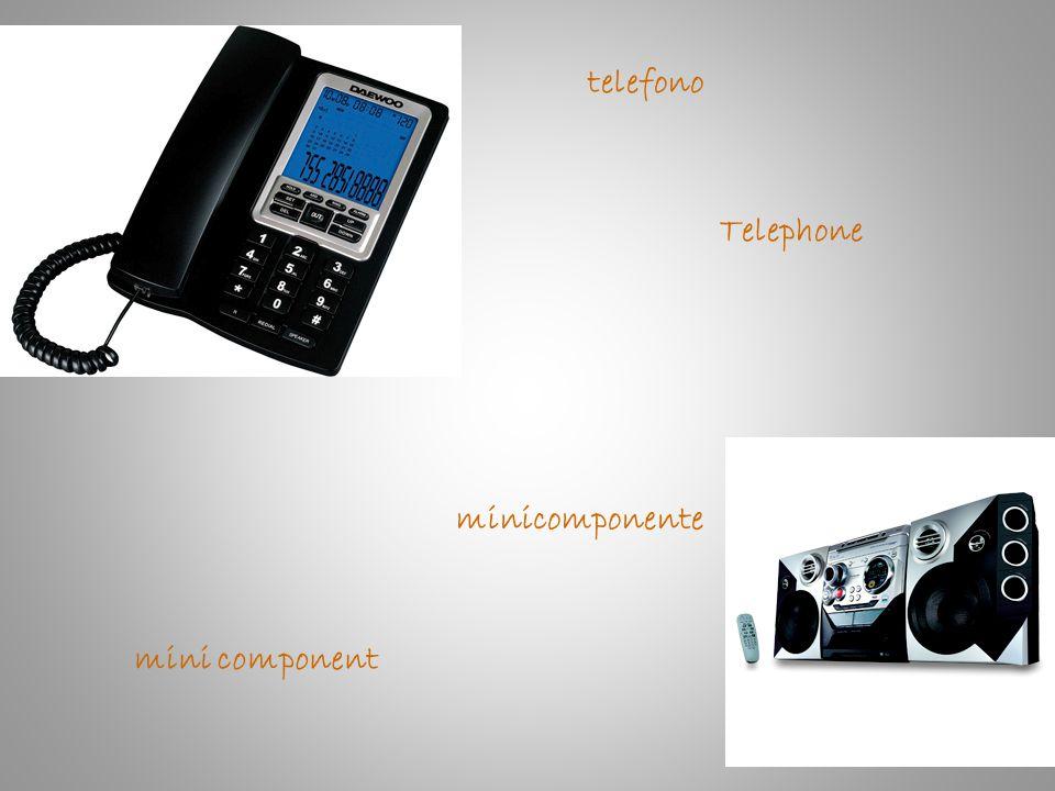 telefono Telephone minicomponente mini component