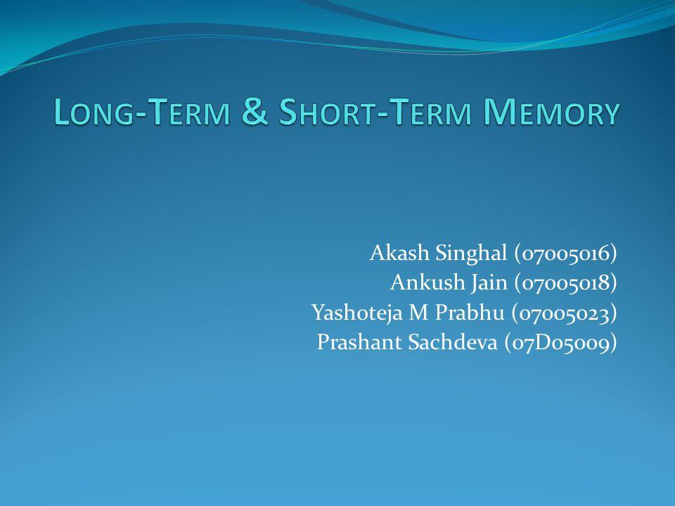 Akash Singhal (07005016) Ankush Jain (07005018) Yashoteja M Prabhu (07005023) Prashant Sachdeva (07D05009)