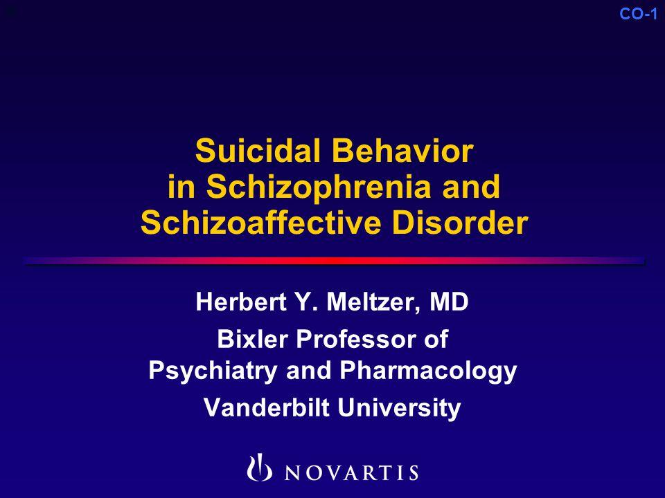 CO-1 Suicidal Behavior in Schizophrenia and Schizoaffective Disorder Herbert Y.