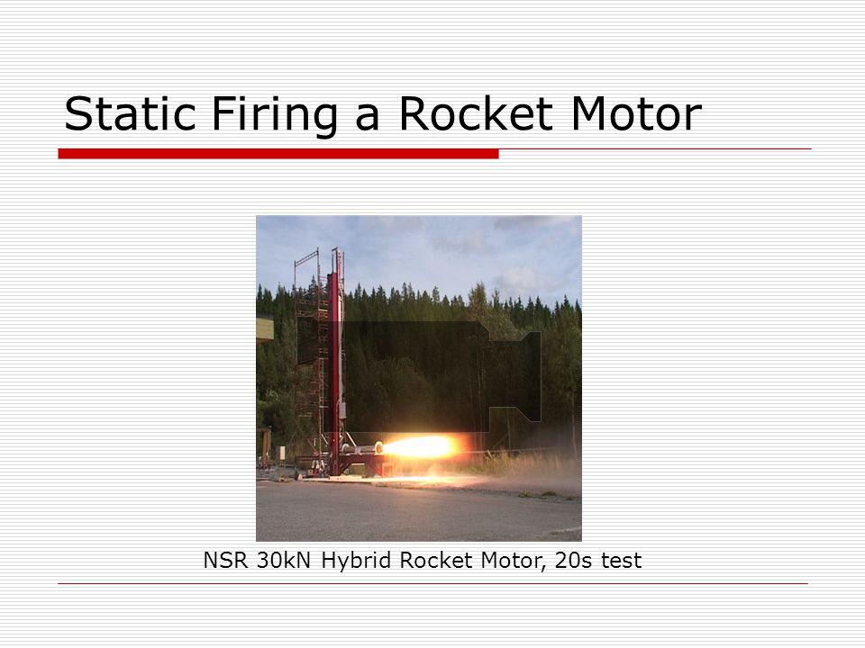 Static Firing a Rocket Motor NSR 30kN Hybrid Rocket Motor, 20s test