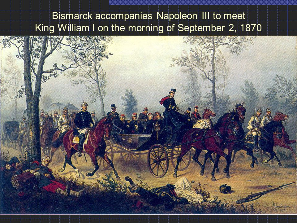 Bismarck accompanies Napoleon III to meet King William I on the morning of September 2, 1870
