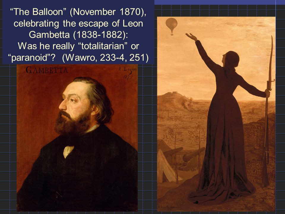 The Balloon (November 1870), celebrating the escape of Leon Gambetta (1838-1882): Was he really totalitarian or paranoid .