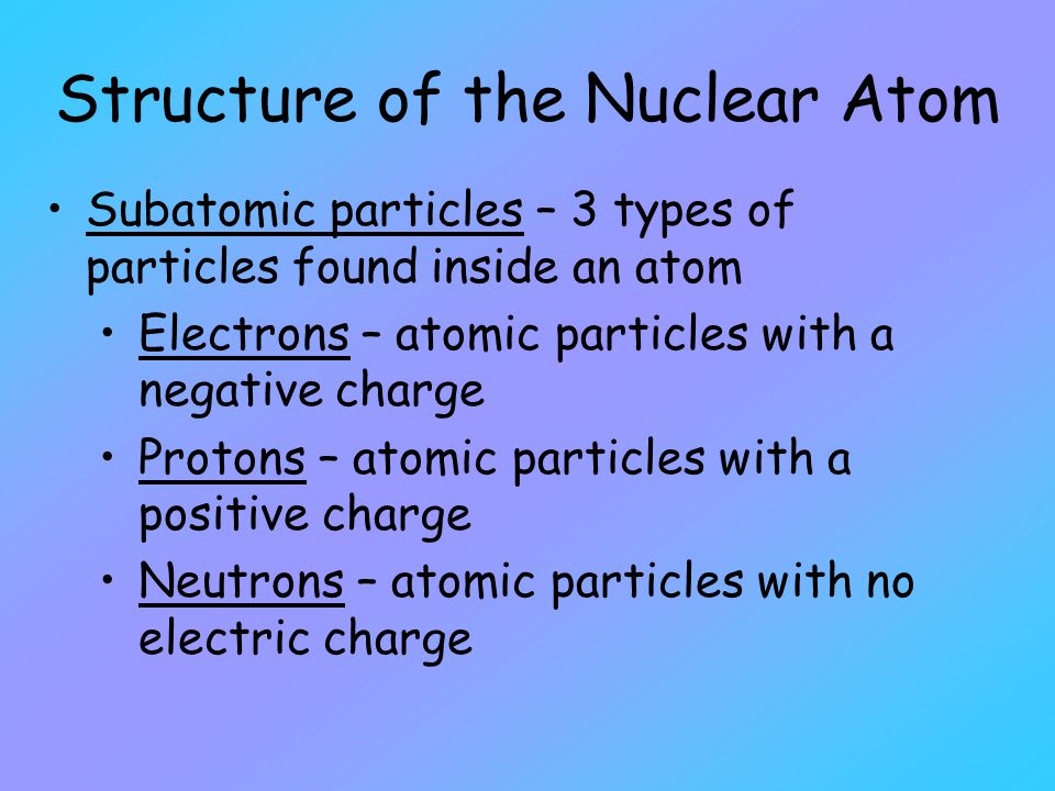 Positive and Negative Charges In 1808 John Dalton thought atoms were the smallest particles.