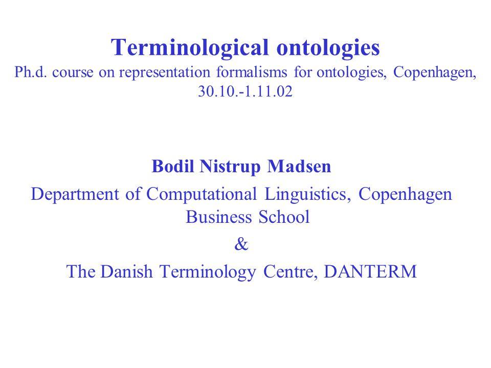 Terminological ontologies Ph.d.