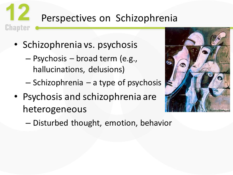 Other Disorders with Psychotic Features: Schizophreniform and Schizoaffective Disorder Schizophreniform disorder – Schizophrenic symptoms for a few months – Associated with good premorbid functioning – Most resume normal lives