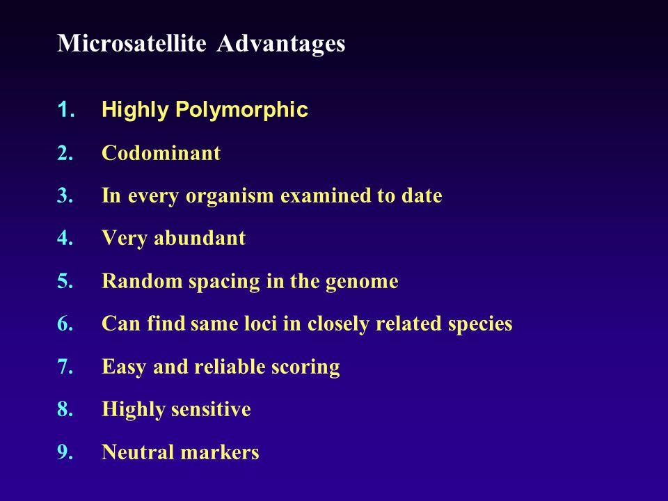 Microsatellite Advantages 1.