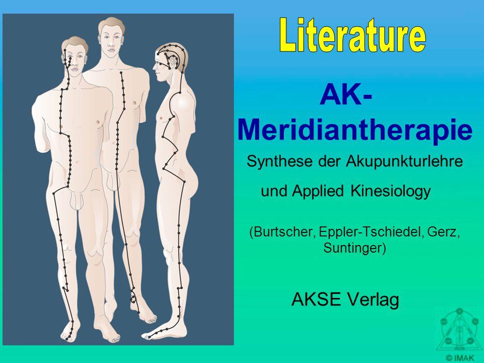 AK- Meridiantherapie Synthese der Akupunkturlehre und Applied Kinesiology (Burtscher, Eppler-Tschiedel, Gerz, Suntinger) AKSE Verlag
