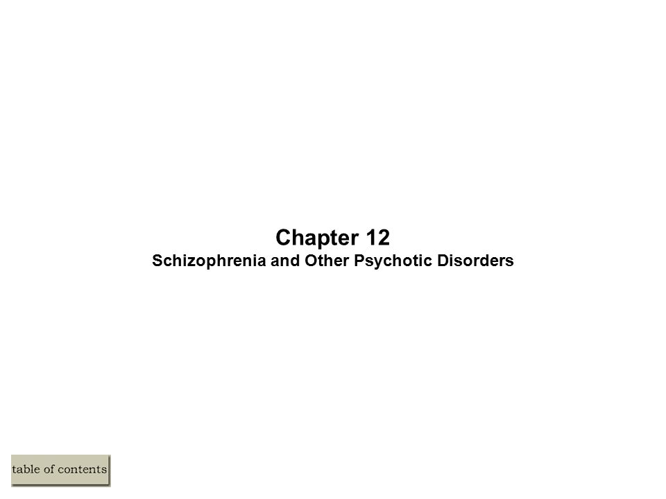 Subtypes of Schizophrenia (cont.) Catatonic Type – 295.20 –Show unusual motor responses and odd mannerisms (e.g., echolalia, echopraxia) –This subtype tends to be severe and quite rare Undifferentiated Type – 295.90 –Major symptoms of schizophrenia, but fail to meet criteria for another type Residual Type – 295.60 –One past episode of schizophrenia –Continue to display less extreme residual symptoms (e.g., odd beliefs)