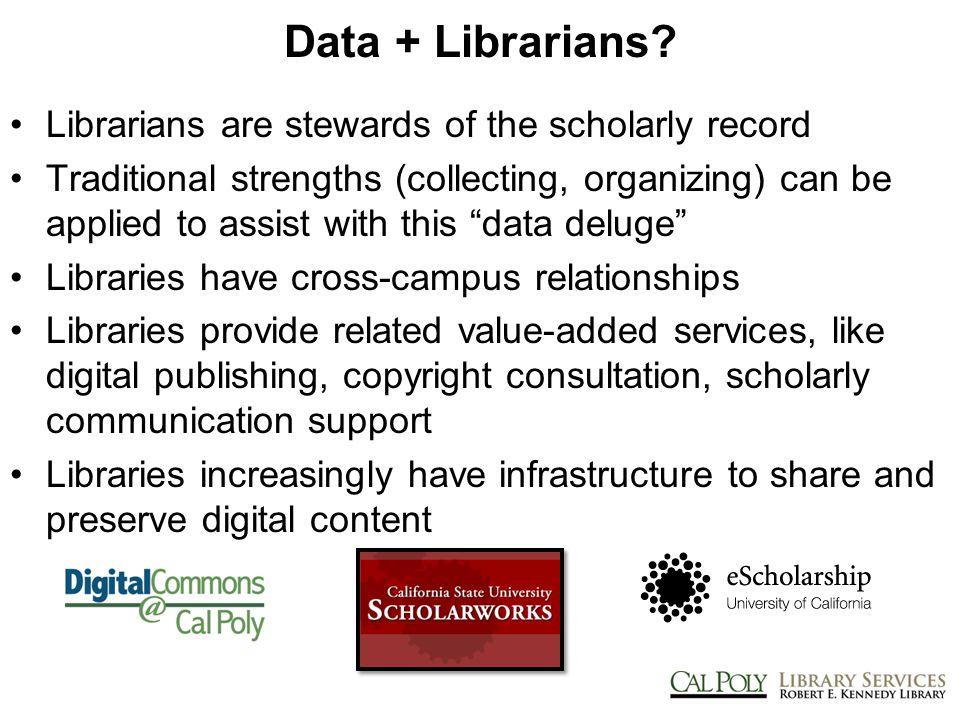Data + Librarians.
