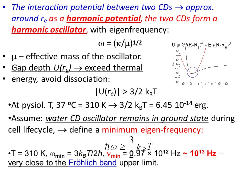 The interaction potential between two CDs  approx.