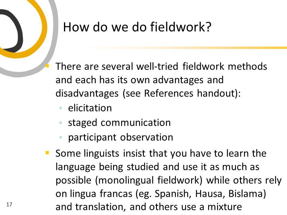 17 How do we do fieldwork.