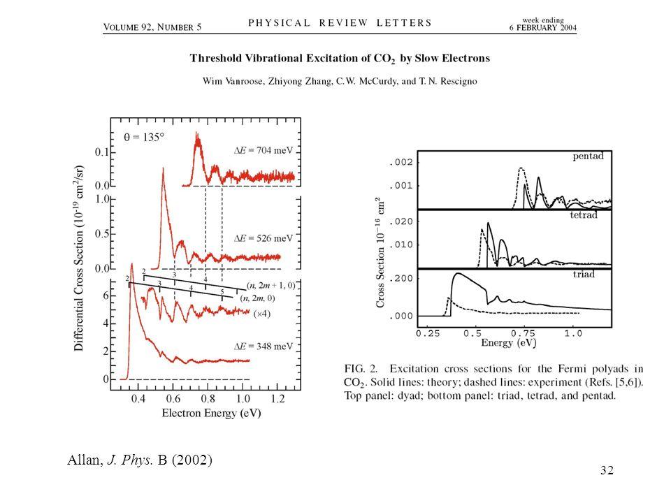32 Allan, J. Phys. B (2002)