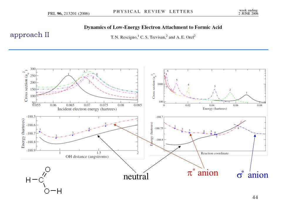 44  * anion  * anion neutral approach II
