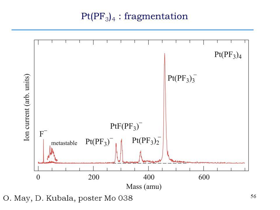 56 Pt(PF 3 ) 4 : fragmentation O. May, D. Kubala, poster Mo 038