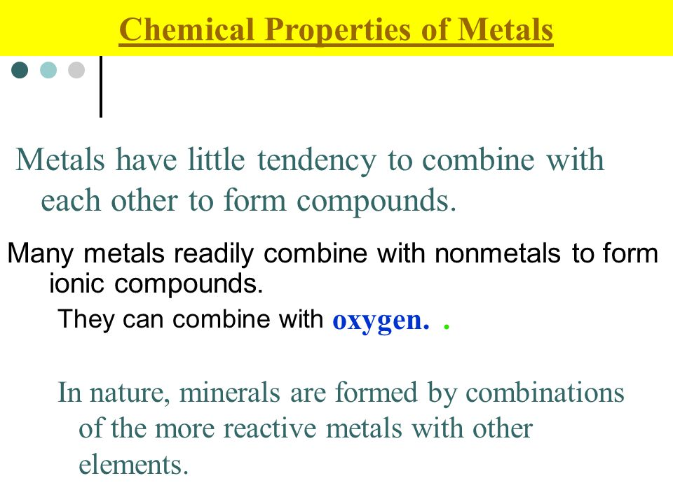 Many metals readily combine with nonmetals to form ionic compounds.