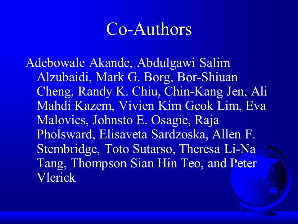 Co-Authors Adebowale Akande, Abdulgawi Salim Alzubaidi, Mark G.