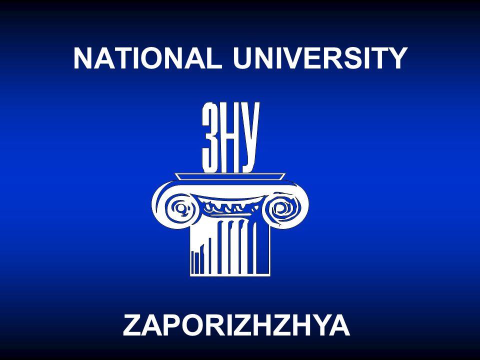 NATIONAL UNIVERSITY ZAPORIZHZHYA