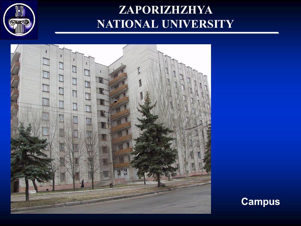 ZAPORIZHZHYA NATIONAL UNIVERSITY Campus