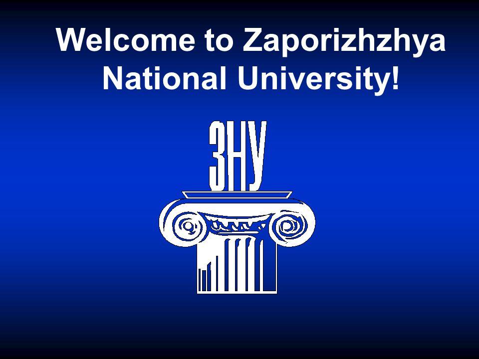 Welcome to Zaporizhzhya National University!
