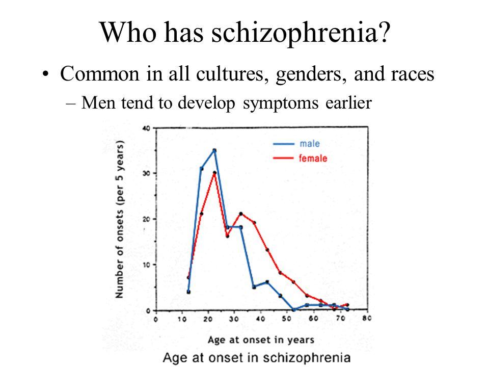 Who has schizophrenia.