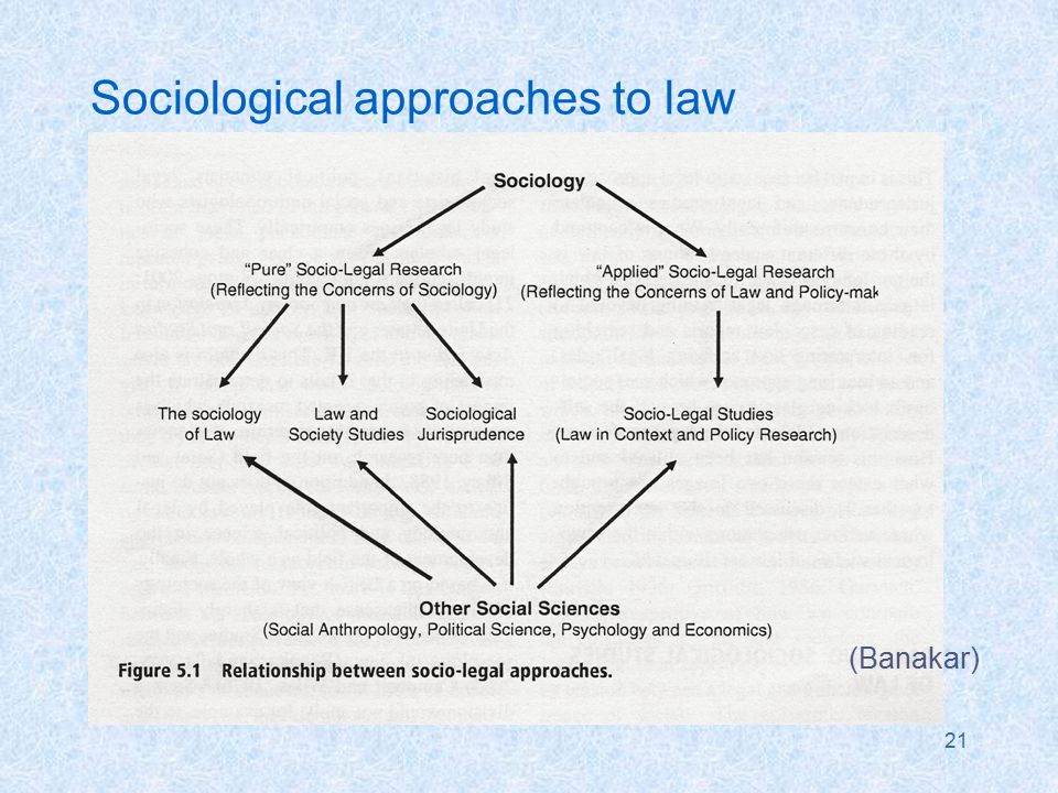 21 Sociological approaches to law (Banakar)
