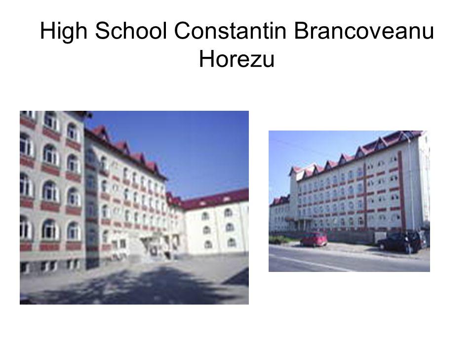 High School Constantin Brancoveanu Horezu